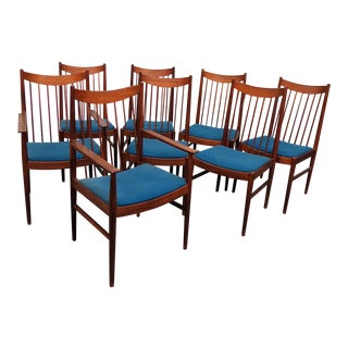 Set of 8 Danish Modern Dining Chairs For Sale