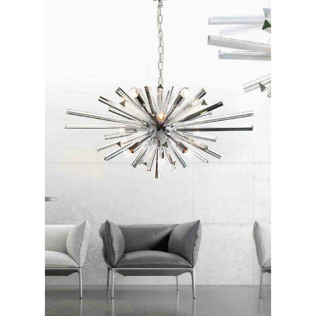 Murano glass sputnik chandelier. diameter 95 cm = 37.4 9 bulbs murano glass made in italy metal frame in kromo