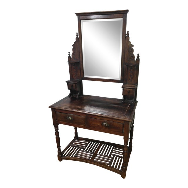20th Century British Colonial Rose Wood Vanity For Sale