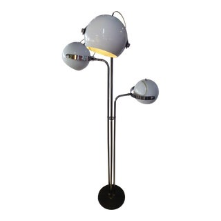 Robert Sonneman Chrome Floor Lamp With Adjustable Globes For Sale