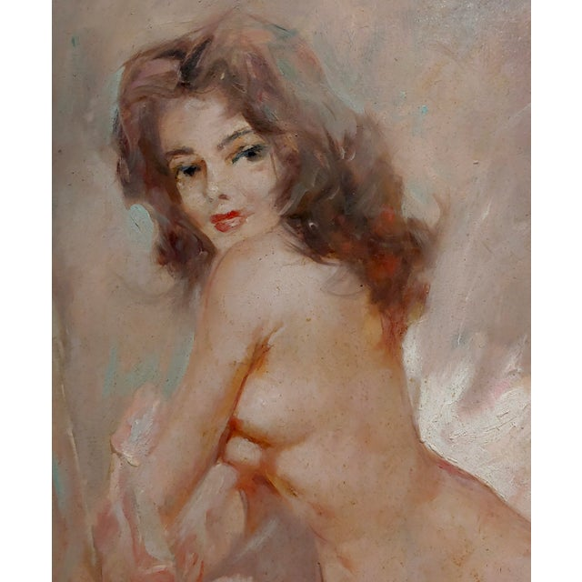 Julian Ritter - Reclining Female Nude - Oil Painting For Sale - Image 4 of 10