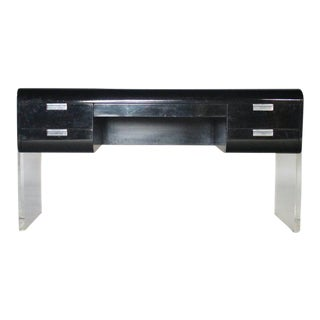 Pace Floating Desk on Lucite Frame For Sale