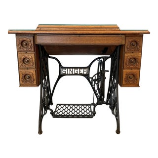 20th Century Traditional Converted Singer Sewing Table For Sale