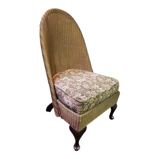 Vintage Lloyd Loom Side Parlor Chair C.1920 For Sale