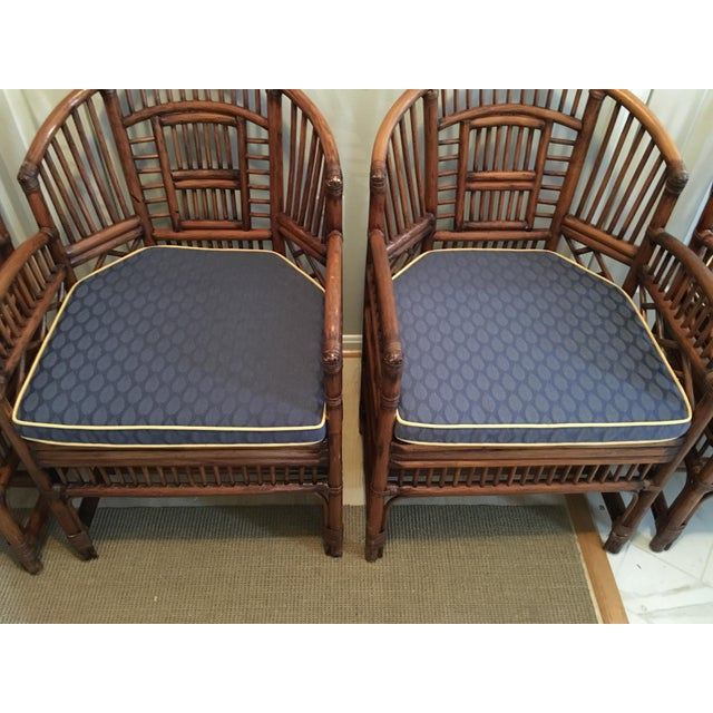 1970s Hollywood Regency Brighton Pavilion Style Bamboo Dining Set - 5 Pieces For Sale - Image 11 of 12