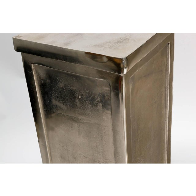 Pair of Metal Alloy Pedestals For Sale In New York - Image 6 of 8