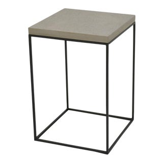 Sarreid Ltd. Concrete Board Top Side Table For Sale