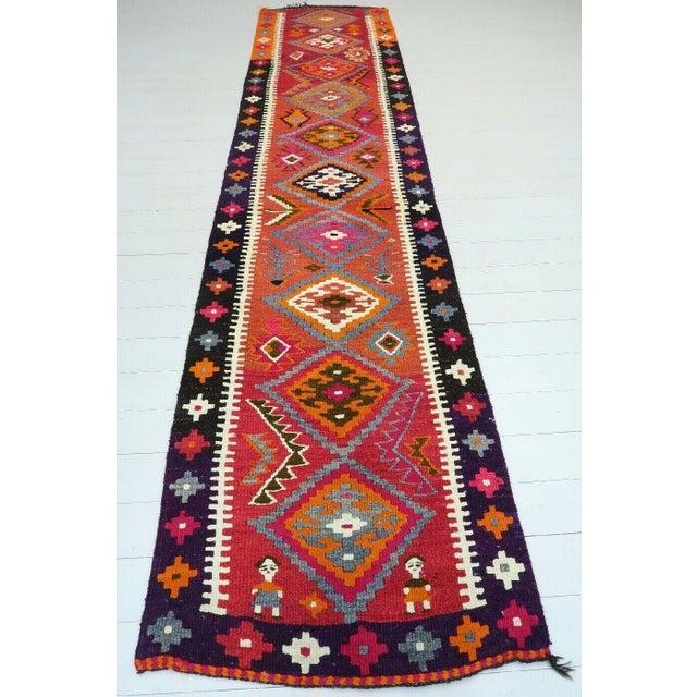 Vintage Turkish Kilim Runner Rug For Sale - Image 12 of 12