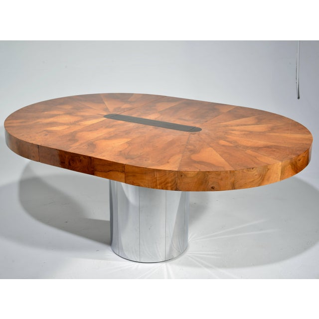 Paul Evans Burl Wood Cityscape Dining Table For Sale - Image 9 of 11