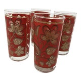 Image of 1950s Mid-Century Modern Gilded Glasses - Set of 4 For Sale