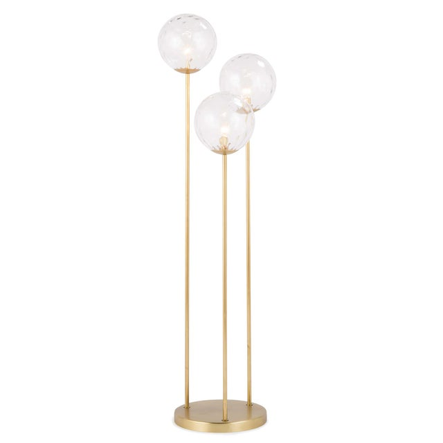 Not Yet Made - Made To Order Rio Triple Floor Lamp in Natural Brass For Sale - Image 5 of 5