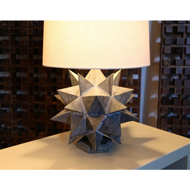 Sculptural Metal Table Lamps, Circa 1965 - a Pair For Sale - Image 10 of 12