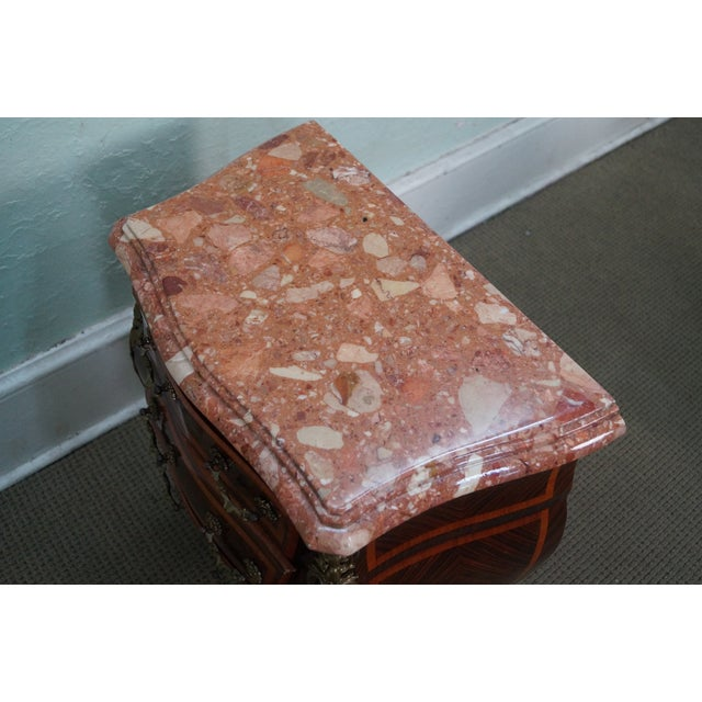 French Louis XV Marble Top Bombe Chests - 2 - Image 10 of 10