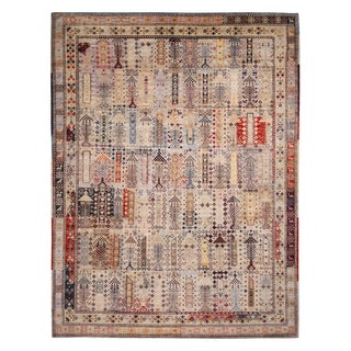 """Contemporary Afghani Tribal Rug-8'9'x11'6"""" For Sale"""
