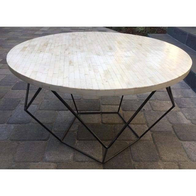 West Elm Octagon Bone Inlay Side/Coffee Table