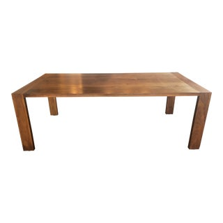 Ligne-Roset Eaton Style Walnut Dining Table For Sale