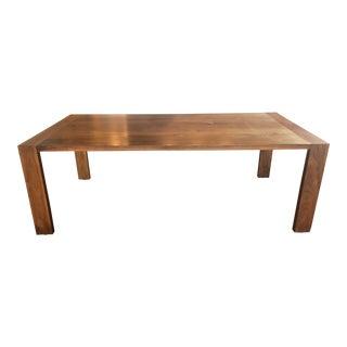 Ligne-Roset Eaton Style Walnut Dining Table