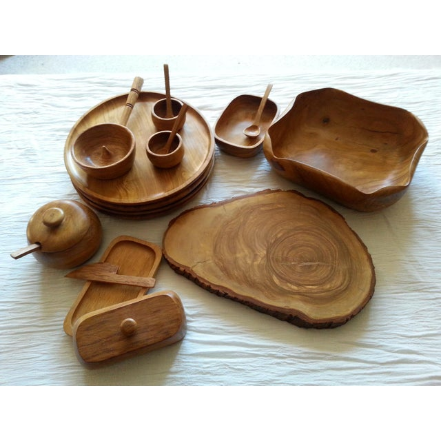 Beautiful set of Peruvian Olive Wood serving pieces. Olive wood is very durable and looks great in modern or traditional...