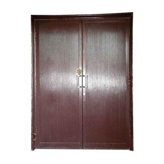 Art Deco Reclaimed Aluminum Clad Doors - a Pair