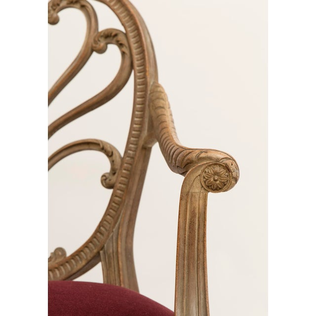 Late 19th Century 19th Century Regency Bleached Wood Armchair For Sale - Image 5 of 6