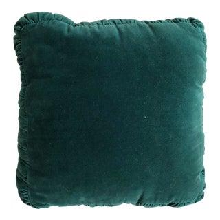 Vintage Emerald Velvet Pillow