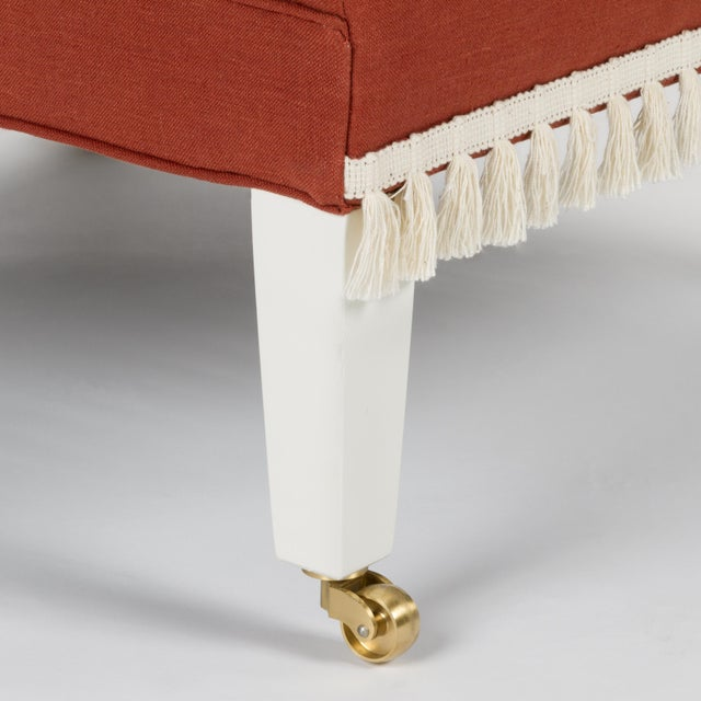Casa Cosima Sintra Chair in Paprika Linen, a Pair For Sale In Los Angeles - Image 6 of 11