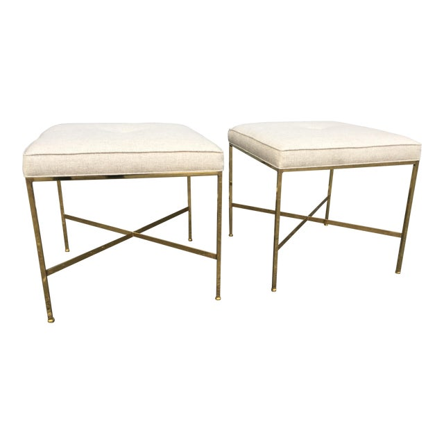 Paul McCobb X-Base Stools - A Pair - Image 1 of 6