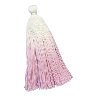 The Dip Dye Light Pink Lagos Cotton Door Tassel For Sale