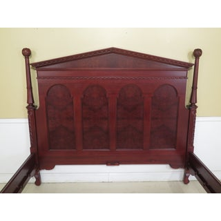 Traditional Monumental Carved Solid Mahogany King Size Bedframe Preview