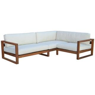 Custom Outdoor Teak Sofa For Sale