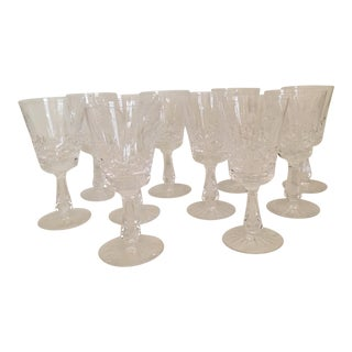 Waterford Crystal Kenmare Wine Glasses - Set of 10 For Sale