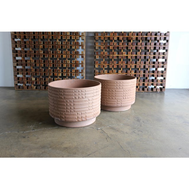 Mid Century David Cressey Staccato Planters - a Pair For Sale - Image 9 of 9