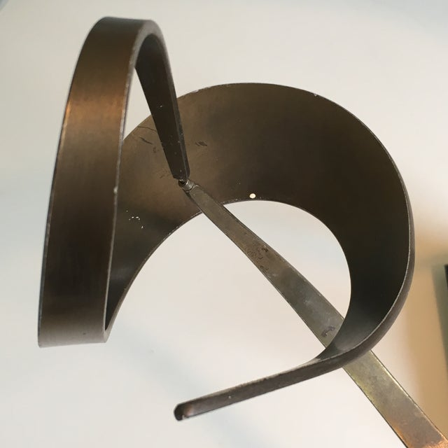 1970's Kinetic Brass Sculpture by John W Anderson For Sale - Image 10 of 11