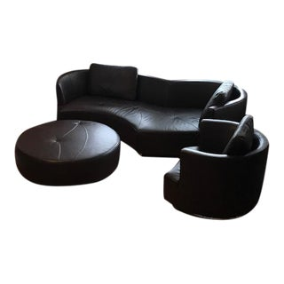 Roche Bobois Tangram Leather Sofa Set - Set of 3