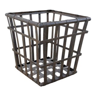 Rustic Square Metal Planter For Sale
