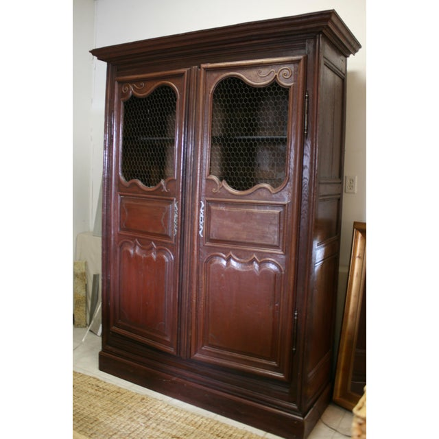 1960s English Hand Carved Armoire For Sale - Image 5 of 9