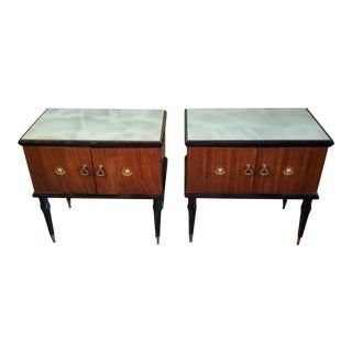 1950s Italian Mid-Century Modern Bedside Tables in the Manner of Paolo Buffa - a Pair For Sale