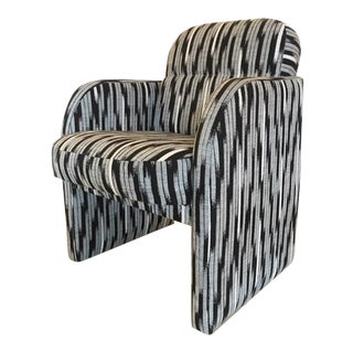 Vintage 1980s Black & White Lounge Chair For Sale