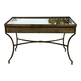 Mid 20th Century Vintage Brass and Glass Side Table For Sale