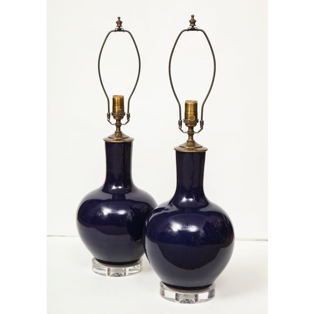 1980s Chinese Vase Lamps - A Pair For Sale - Image 5 of 9