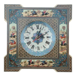 Persian Khatam Marquetry Clock For Sale