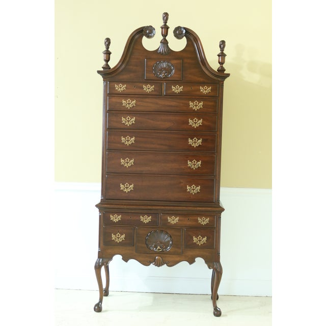 Kittinger Biggs Model 1780 Chippendale Mahogany Highboy For Sale - Image 12 of 12