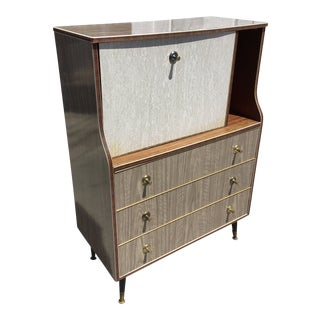 1950s Mid-Century Modern Laminate Secretary Desk or Bar For Sale