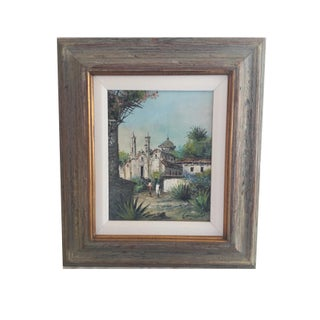 Vintage Mission Painting For Sale