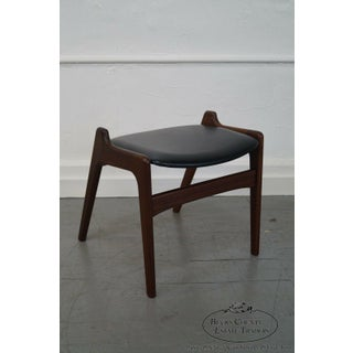 Danish Modern Teak Ottoman Bench Backless Chair Preview