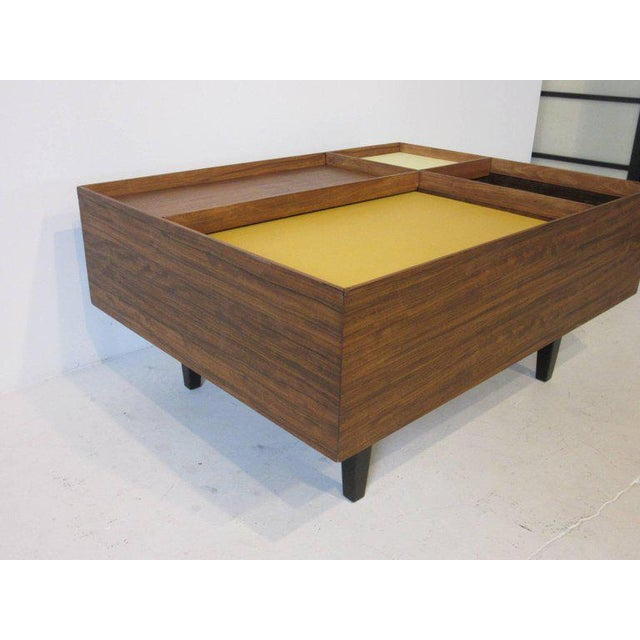 1950s Early Milo Baughman Coffee Table in Exotic Mindoro Wood for Drexel For Sale - Image 5 of 9