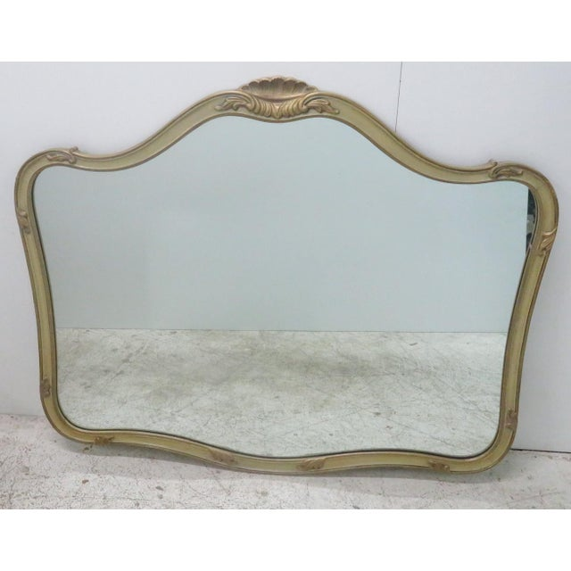 French Provincial Style Paint Decorated Mirror - Image 6 of 6