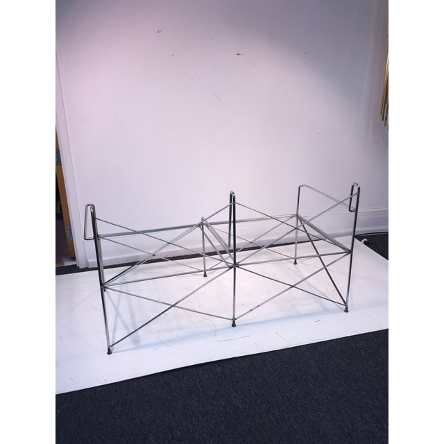 Exceptional Molecular Design Tubular Chrome Modernist Loveseat For Sale - Image 9 of 9