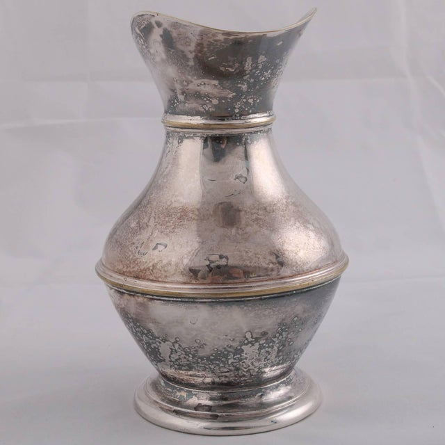 19th Century German Sterling Silver Georgian Style Pitcher 9.4 Toz Darmstadt, 19th Century For Sale - Image 5 of 13
