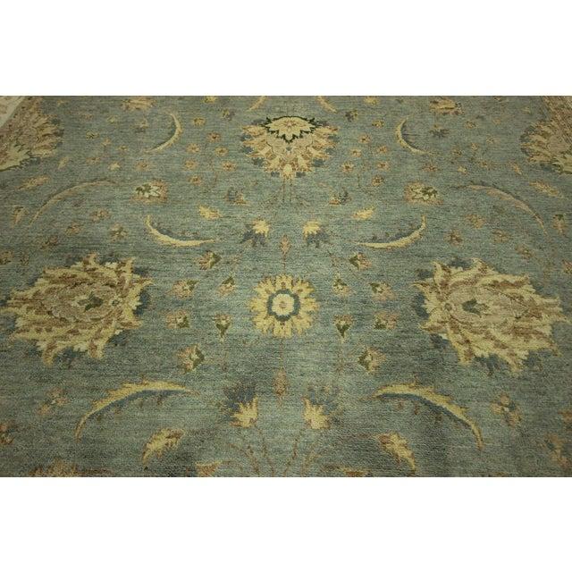 Pakistan Sky Blue Chobi Wool Rug - 8' x 10' - Image 6 of 8